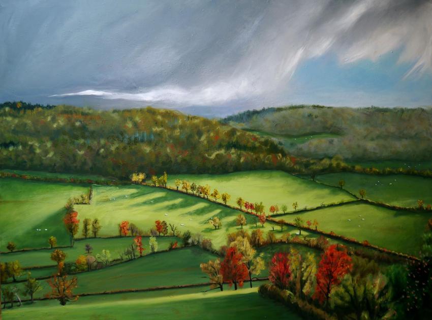 Paysage d automne en auxois